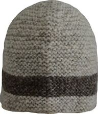 Wool Winter Cap Beanie Hat Unisex Ski Warm Handmade Fleece Knit Thermal Grey