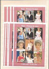 BURKINA FASO 1997 LADY DIANA Royalty 180F x 10 MNH SHEETS OF 9 [D450]