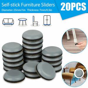 20X Adhesive Furniture Pads Glides Sliders Chair Leg Protectors Floor Table Feet