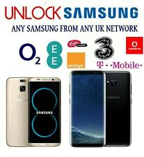 Unlock Code For O2 Tesco EE Vodafone UK Samsung Galaxy S8 S8 Plus