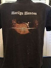 Rare Vintage Marilyn Manson Tour Shirt Sz L Satanic Rock Alternative Metal Evil