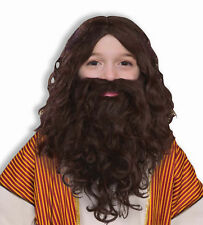 Biblical Times Brown Jesus Wig Beard CHILD Costume Accessory NEW