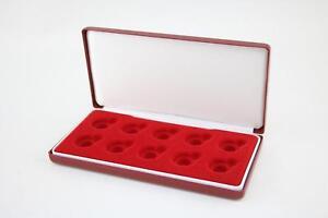 Deluxe red velvet padded sovereign case for 10 gold half sovereign