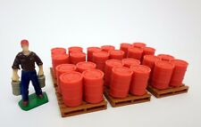 1/64 Scale Oil Drum Pallets, Set of 6 (Red)