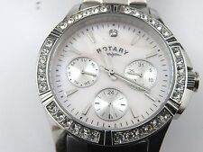 Ladies Rotary Watch LB00161/07 Stainless Steel Analogue Watch