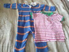 Ralph Lauren Baby Boys Blue outfit Polo Logo Top 9M 6-9 Months 💛 Designer