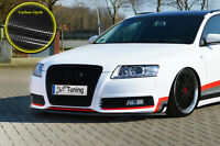 Spoilerschwert Frontspoiler aus ABS Audi A6 4F Facelift mit ABE in Carbon Optik