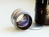 VERY RARE 1963 SILVER JUPITER 3 1,5/50mm USSR lens (Fed, Zorki, Leica) M39 RED P