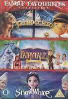 Famiglia Favoriti Collection Pinocchio Fairy Tale Neve Bianco DVD Nuovo/Sealed