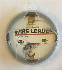 Danielson Nylon Coated Wire Leader 20 lb 30 feet, New