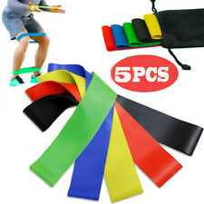 Resistance Bands Exercise Home Gym Yoga Stretch Training Elastic fitness Band US