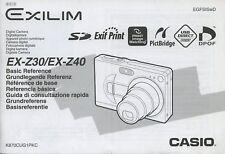 Casio EX-Z30/EX-Z40 digital camera instruction manual 2005