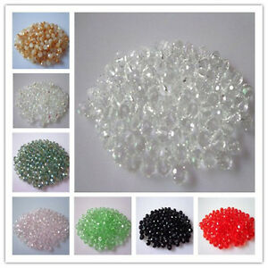 New Faceted 200/500PCS 3X4mm crystal Glass beads DIY U Pick color