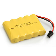 4pcs 700mAh 6V Ni-Cd Rechargeable Battery SM 2Pin Plug AA  Battery Toy Car/Boat