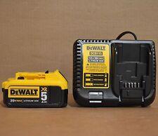 DEWALT DCB205 20V 5Ah MAX Li-Ion Battery + DCB115 Charger for Drill Saw Grinder