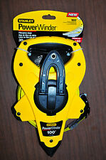 Stanley Proto 100 ft PowerWinder Fiberglass Tape measure easy pull,anchor 34-760