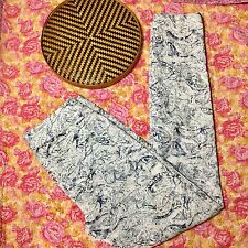 Cache Skinny Jeans Womens Size Pants Ankle Stretch White Blue Paisley Watercolor