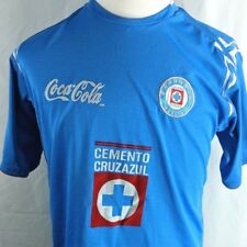 Vintage Cruz Azul Jersey Telcel Liga MX Soccer Futbol Light Blue Men's Medium