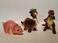 Dinosaur Salt And Pepper Shaker Singles Lot Of 3 Pieces