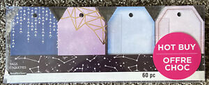 60 PC Galaxy Themed Tags by Recollections NIB Gift Tags Presents
