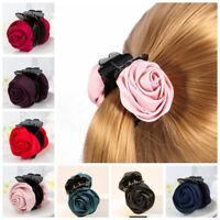 Women Girls Hair Crab Clamp Hair Clip Rose Hair Claws Clips Hair Accessories