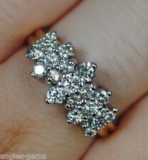 Engagement Ring Solid 14K Yellow Gold Zales New 1ct Diamond Anniversary Pyramid