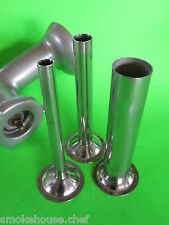 (3) Set sausage stuffer tubes for Vintage Kitchenaid Mixer meat grinder chopper