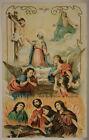SANTINO HOLY CARD Preghiera per le Anime Purganti 1898 #SA357