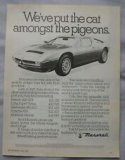 1981 Maserati Original advert No.2