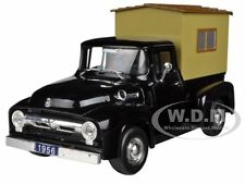 1956 FORD F-100 PICKUP TRUCK BLACK WITH CAMPER 1:32 BY SIGNATURE MODELS 32395