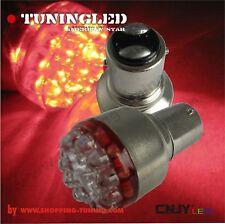 2 ampoule 19 led Rouge,feux stop/veilleuse P21/5W Bay15d non canbus et polarisé