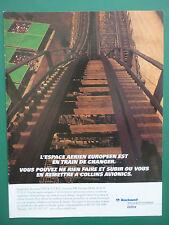 11/1997 PUB ROCKWELL COLLINS AVIONICS AVIONIQUE GRAND 8 MANEGE MONTAGNE RUSSE AD