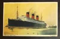 Cunard White Star Beringaria. 1906 Vintage Postcard Collection