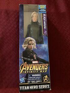 "Marvel Avengers Infinity War BLACK WIDOW Titan Hero Series Power 12"" Figure Toy"
