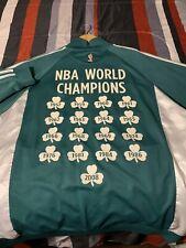 Boston Celtics World Champion Anniversary Jacket Adidas mens sz XL.