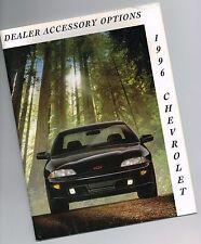 1996 Chevy OPTIONS/ACCESSORIES Brochure: Radio,Alarm,Rack,Cell,Spoiler,Koolatron