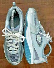 SKECHERS Shape-Ups XF Accelerators Blue/ Silver Sz Women US 8.5 Sneakers Shoes