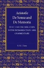 De Sensu and de Memoria : Text and Translation with Introduction and...