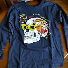 Boys Long  Sleeve  Graphic Tee What's on your mind size 4 JRE 341