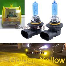 9005 HB3 H10 High Beam 100W 3000K Golden Yellow Xenon Halogen Headlight Bulbs