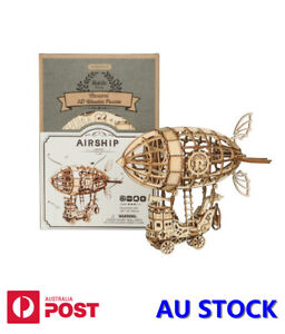 Airship TG407 DIY 3d Wooden Puzzle Assembly Toy Decor Gift Children Adult
