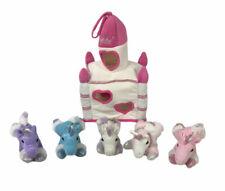 Unipak 5 Unicorn Horse Plush White Castle Carrying Case 2015 Toy
