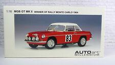 1:18 AUTOart Millennium MGB MK II Winner of Rally Monte Carlo 1964  (21057)