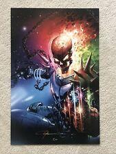 Clayton Crain Cosmic Ghost Rider 11x17 Print Signed