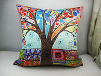 Decorative Velvet Pillow Cushion Cover Abstract Tree Original by Karla Gerard
