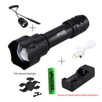 7W Zoomable IR Infrared Hunting Flashlight Night Vision LED Torch 850nm 18650 CH
