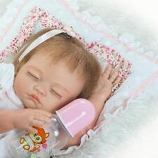 "Kids gifts 20"" Reborn doll Girl baby Lifelike Realistic body Full Silicone Vinyl"