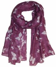 Butterfly Lady Women Fashion Soft Scarf Scarves Shawl Neck Wrap Headscarf Stole