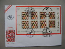 AUSTRIA, cover FDC 1990, S/S Stampday, ao canc. bicycle windmill