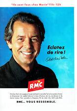 Publicité Advertising 127  1991   radio Rmc Monte Carlo Christian Morin
